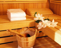 Sauna mit Dampfbad