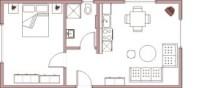 Ferienwohnung 5 mit einem Schlafzimmer